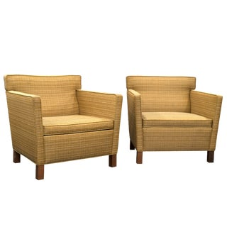 Knoll Krefeld Contemporary Lounge Club Chairs - Pair For Sale