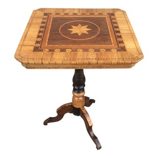 Antique Inlaid Italian Marquetry Table