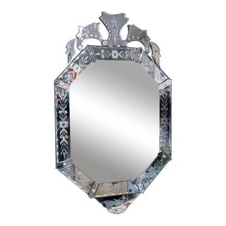 1915 Venetian Beveled Mirror For Sale