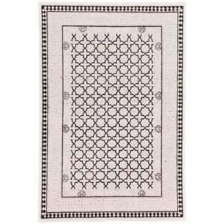 Contemporary Modern Hand Woven Flatweave Rug - 6' X 9' For Sale
