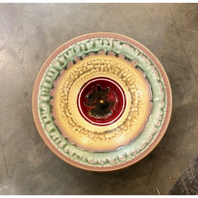 Boho chic Larry Spears Pottery Decorative Bowl For Sale - Image 4 of 6