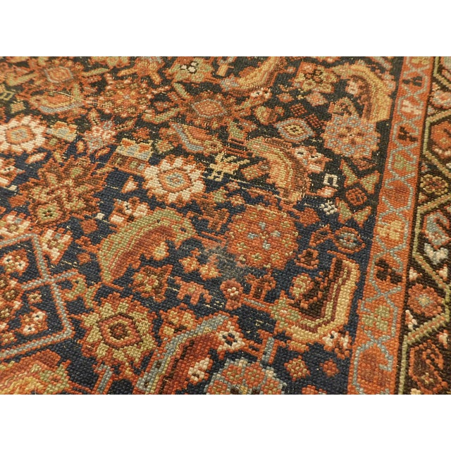 1900 Antique Persian Fereghan Rug For Sale - Image 10 of 13