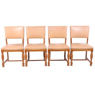 1940s Jacobean-Style Chairs - Set of 4 For Sale