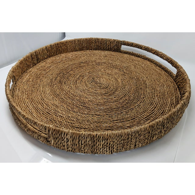 Palecek Style Round Ottoman Tray For Sale - Image 13 of 13