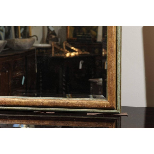 Gray Italian 1850s Baroque Style Painted Mirror, Hand-Carved with Stylized Dolphins For Sale - Image 8 of 12