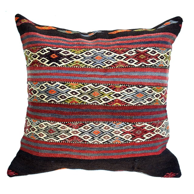 "Vintage Kilim Pillow 24"" X 24"" - Image 1 of 3"