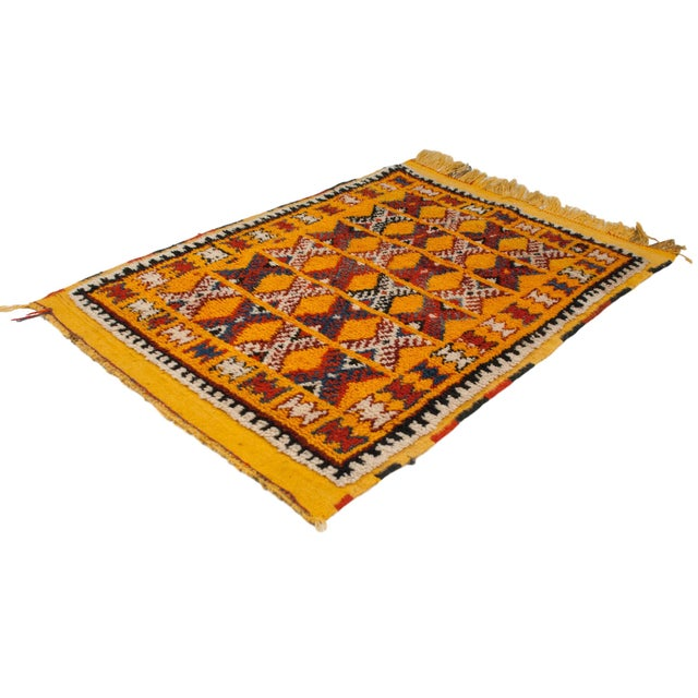 "Saffron Vintage Murat Square Rug - 3'6"" X 4'8"" For Sale - Image 8 of 9"