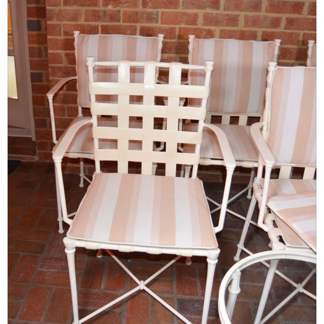 Vintage Brown Jordan Outdoor Cast Metal Patio Table and Chairs For Sale - Image 11 of 13