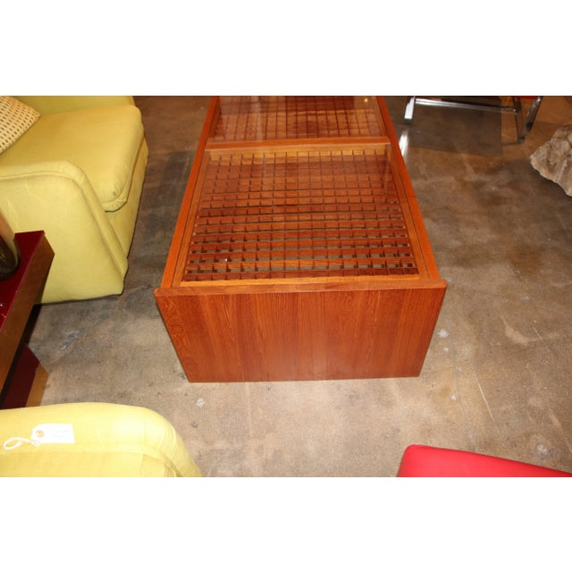Mid 20th Century Artisan Craft Made Lattice Top Coffee Table For Sale - Image 5 of 10