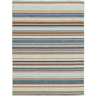 Elana Striped Pastel Yellow Flat-Weave Rug 4'x6' For Sale
