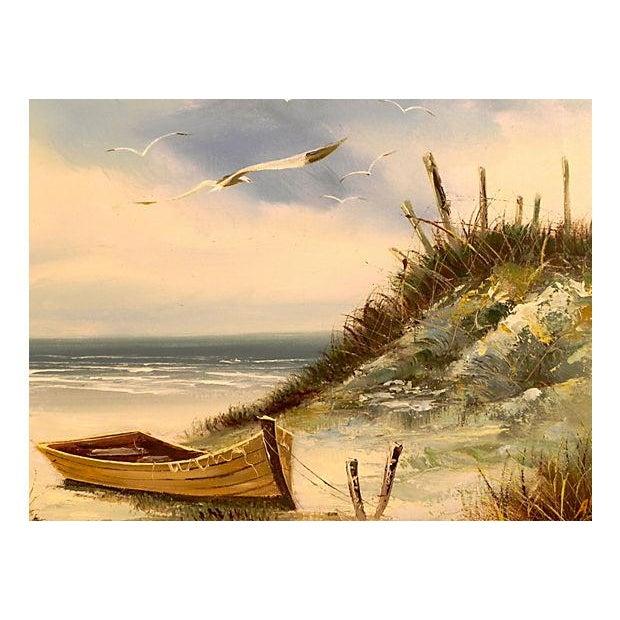 Moored Boat at Seashore Landscape - Image 2 of 3