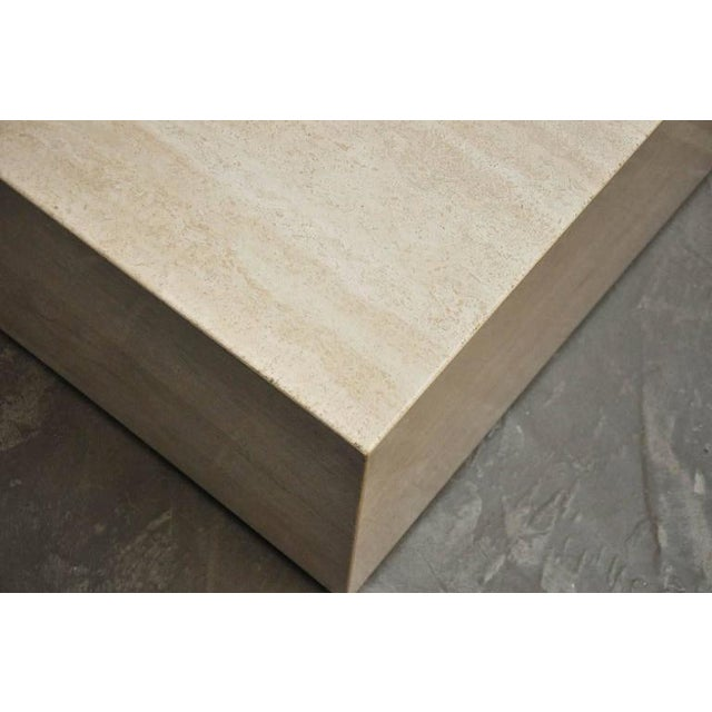 Travertine Coffee Table For Sale - Image 5 of 7