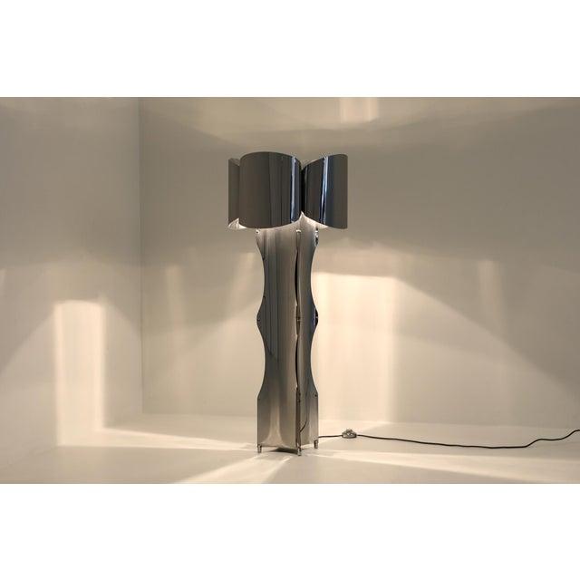 Post-Modern Chromed Steel Floor Lamp by Maison Charles - 1970s For Sale - Image 9 of 10