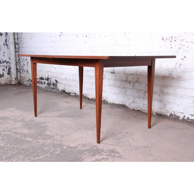 Kipp Stewart for Calvin American Design Foundation Walnut and Rosewood Boat-Shaped Extension Dining Table For Sale - Image 10 of 13