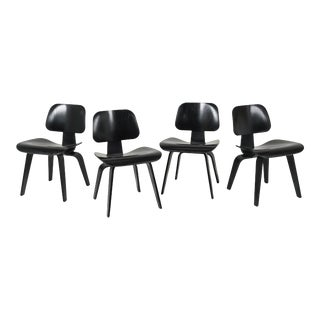 Herman Miller Eames Dcw Chairs - Set of 4 For Sale