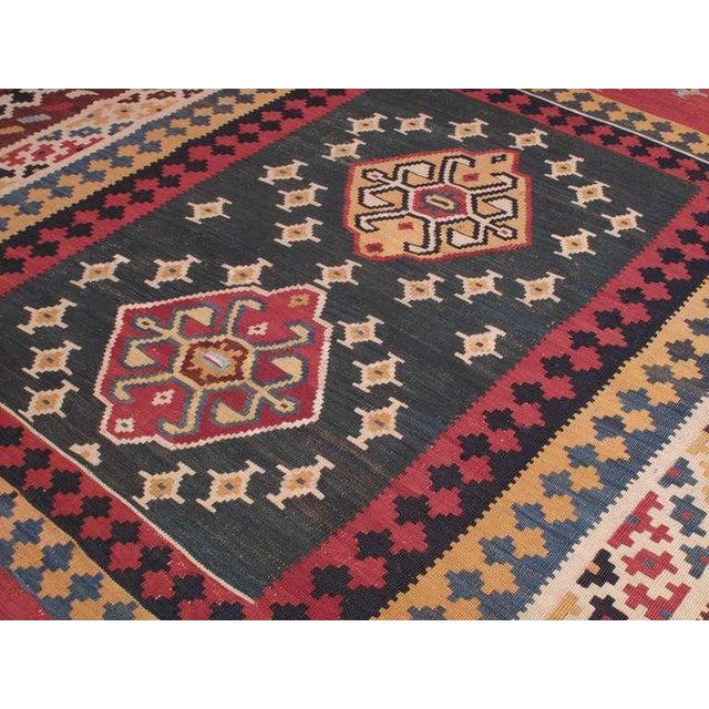 Antique Qashqai Kilim For Sale - Image 4 of 7