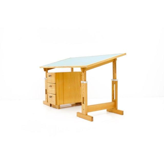 Asko Adjustable Pine Wood Writing Desk Finland, 1970s For Sale - Image 13 of 13
