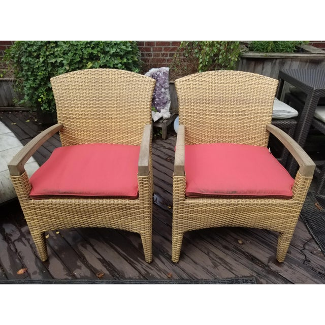 Gloster Plantation Outdoor Dining Armchairs - a Pair For Sale - Image 9 of 9
