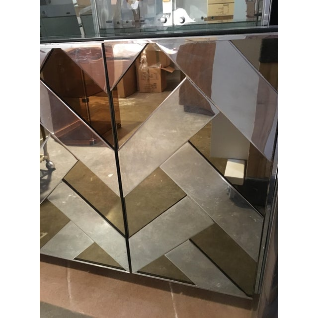Modern Vintage Ello Chrome, Smoked Glass and Mirror Credenza or Sideboard - Image 8 of 8