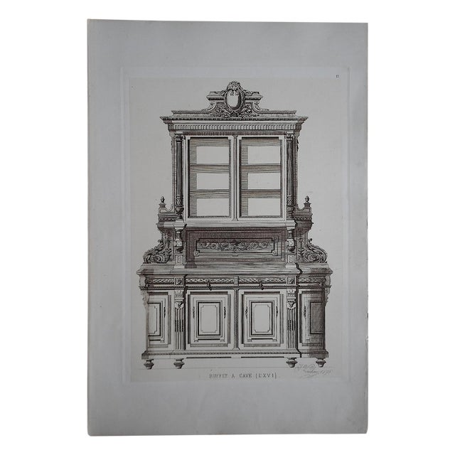 Antique Furniture Lithograph Folio Size - Image 1 of 3