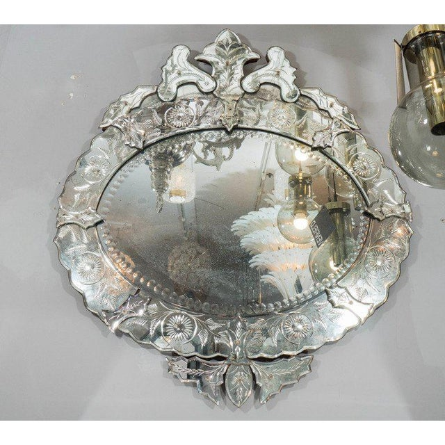 Glass 1940s French Venetian Style Mirror For Sale - Image 7 of 7