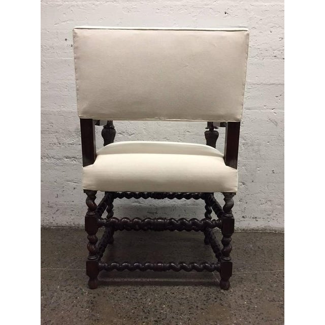 Baroque Pair of Franco Flemish Baroque Style Walnut Armchairs For Sale - Image 3 of 9