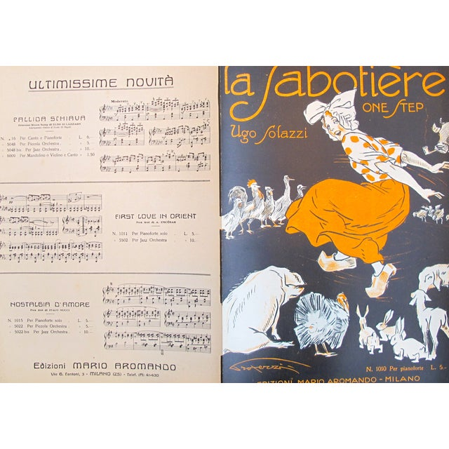 1925 Italian Music Sheet La Sabotiere For Sale - Image 5 of 6