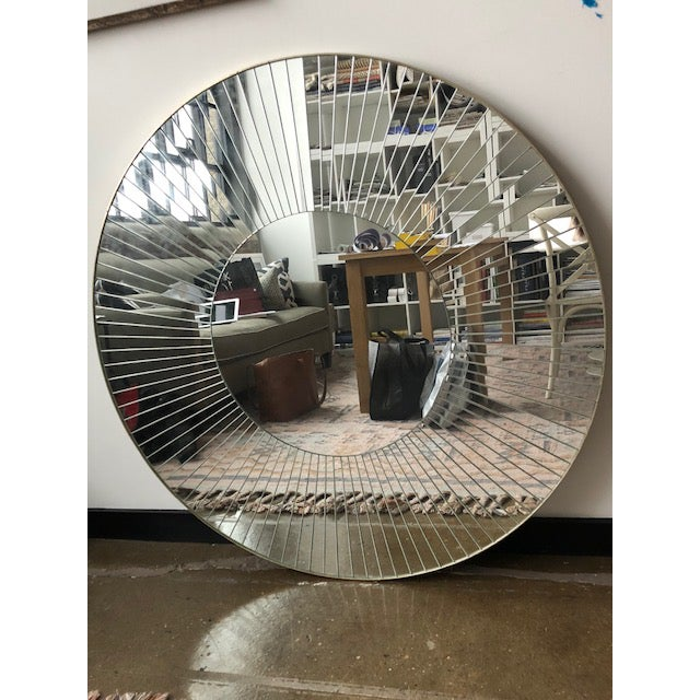 Glass Diane Watts Helios Mirror For Sale - Image 7 of 7