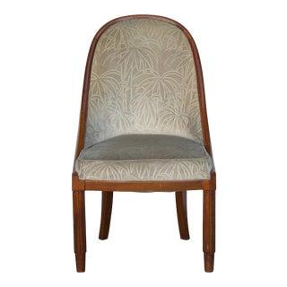 1920s Vintage Émile-Jacques Ruhlmann Style French Art Deco Chair For Sale