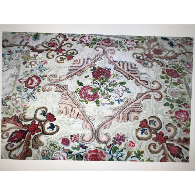 Hooked Rug Room Size With King Charles Spaniels Playing Circa 1860 For Sale - Image 4 of 6