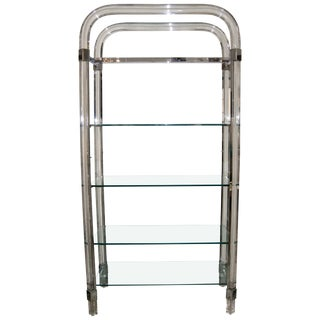 1970s Lucite and Glass Etagere by Charles Hollis Jones For Sale
