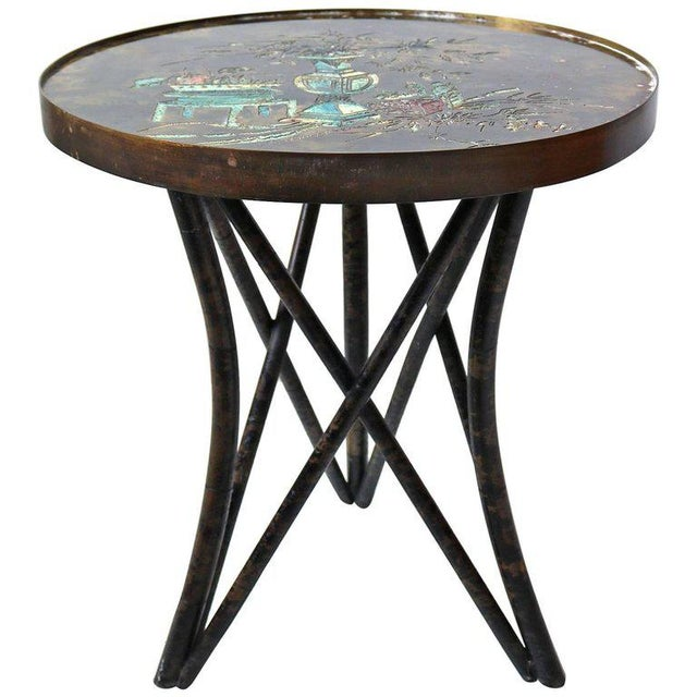 Philip and Kelvin LaVerne 'Still Life' Side Table in Patinated Bronze For Sale - Image 10 of 10