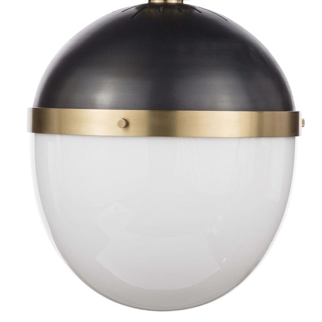 Otis Pendant Large in Blackened and Natural Brass For Sale In Detroit - Image 6 of 8