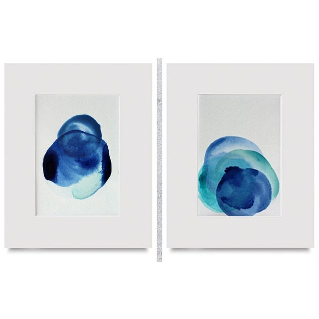 Original Modern Abstract Minimal Art Paintings - A Pair For Sale - Image 5 of 5