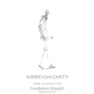 """Alberto Giacometti Dessin II 30.5"""" X 17.75"""" Poster 1978 Modernism For Sale"""