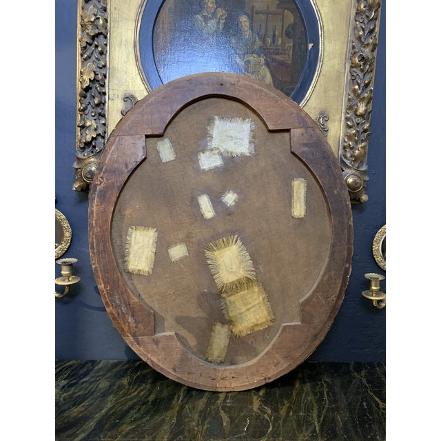 19th-Century Oil on Oval Canvas Portrait Painting For Sale In Los Angeles - Image 6 of 13
