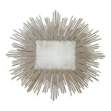 Image of Studio a Home Modern Soleil Taupe Wood Sunburst Wall Mirror For Sale
