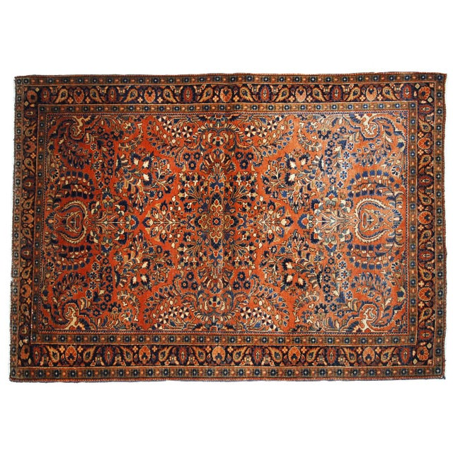 1920s, Handmade Antique Persian Sarouk Rug For Sale - Image 12 of 13