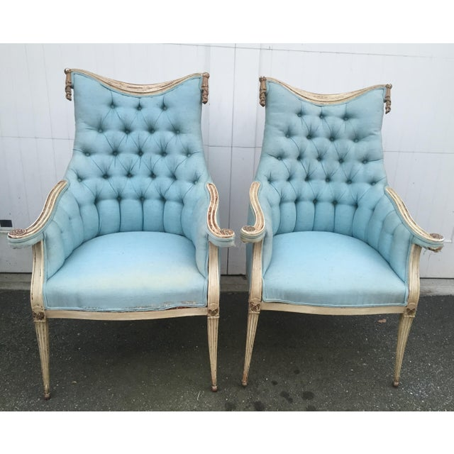 Hollywood Regency Grosfeld House Armchairs - A Pair - Image 2 of 11