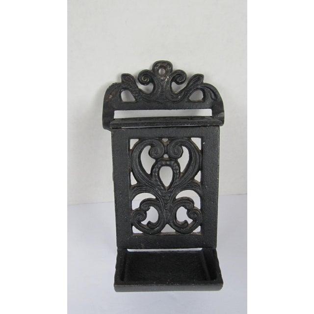 1930s Black Cast Iron Match Safe For Sale - Image 5 of 5