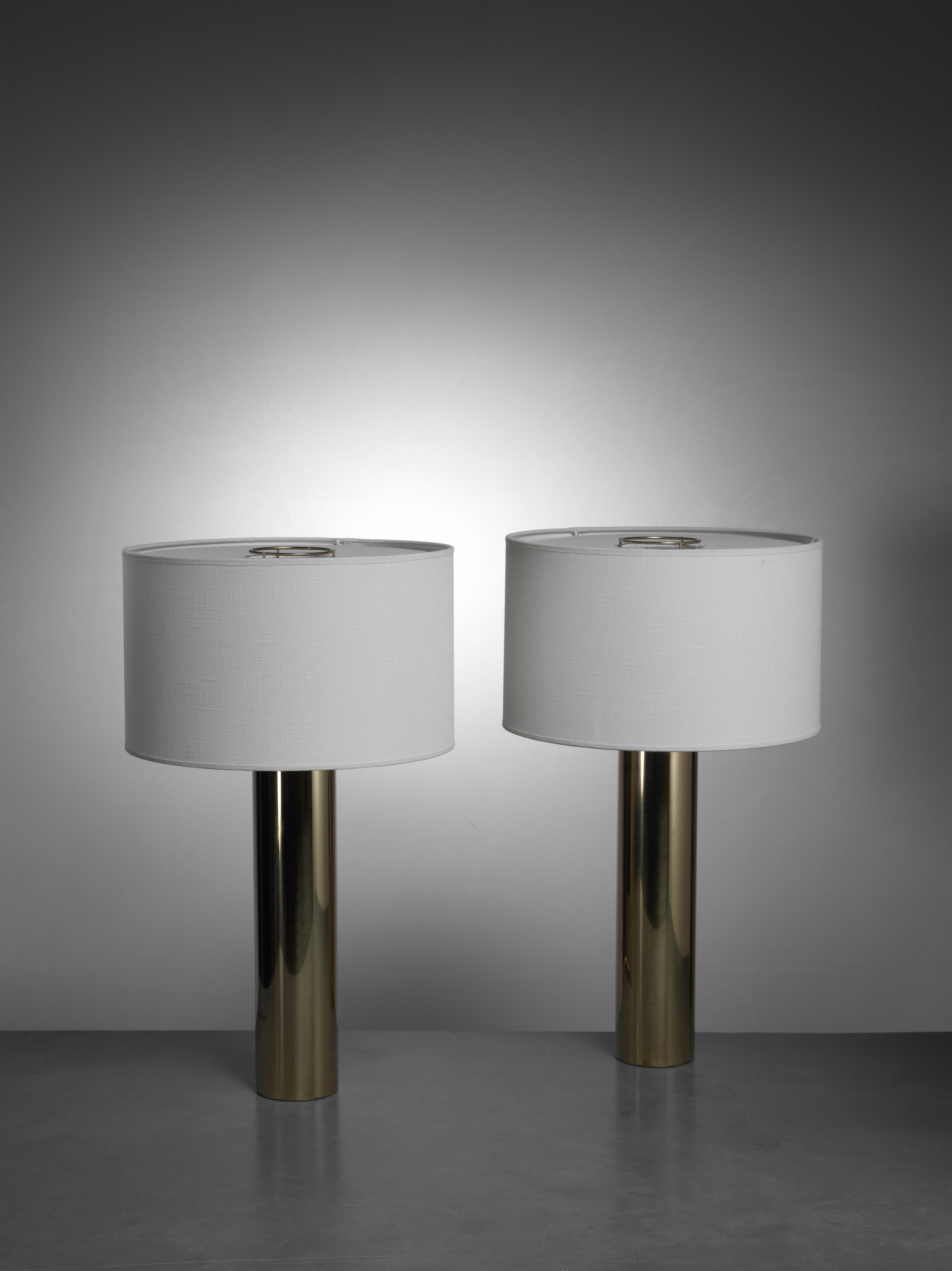 Falkenberg Brass Table Lamps, Sweden, 1950s   Image 3 Of 3
