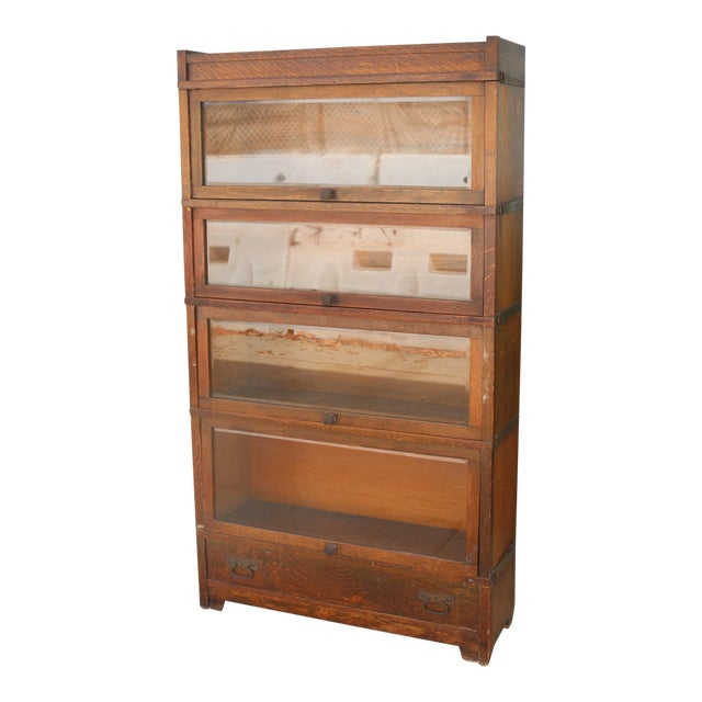 Antique Lawyers Bookcase For Sale