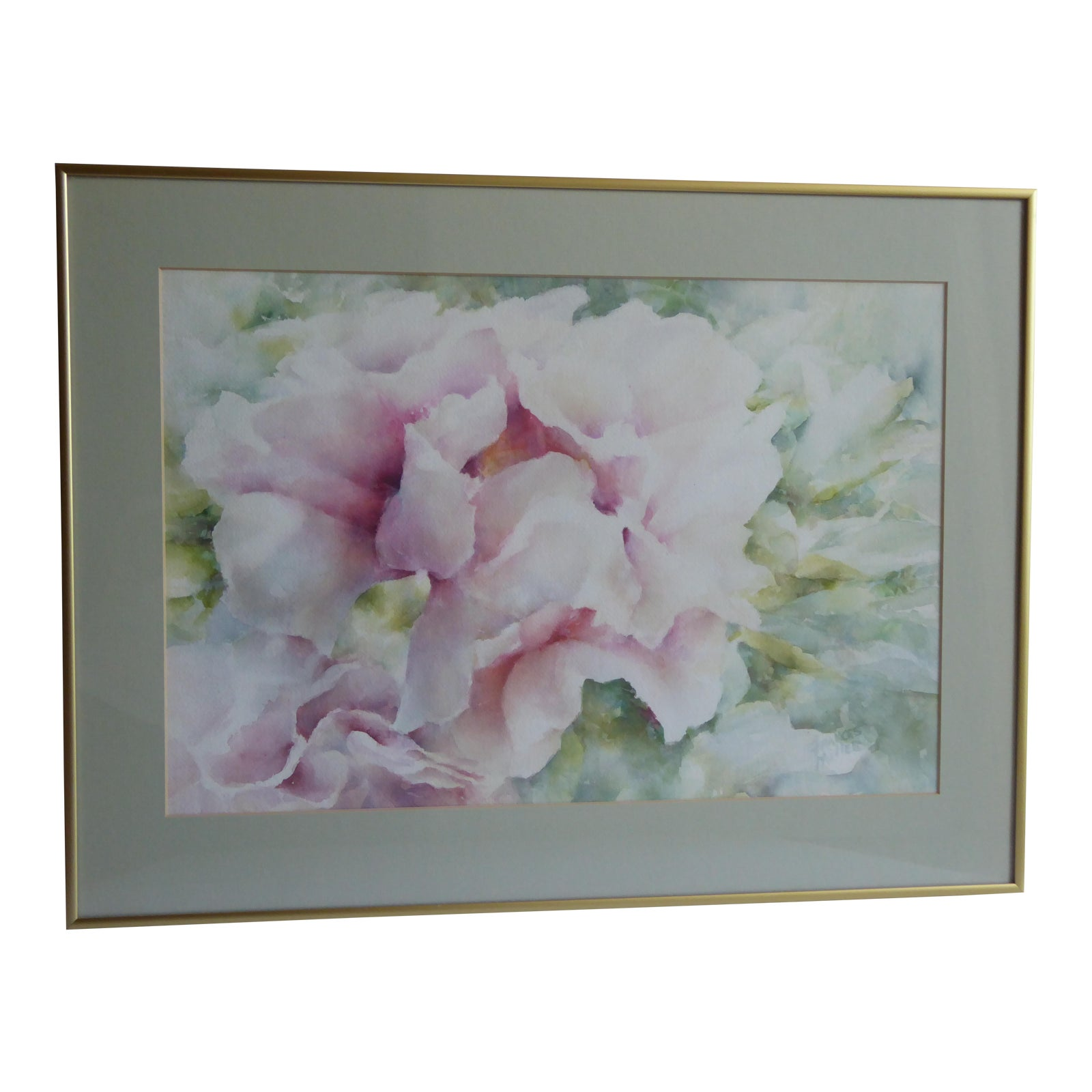 Original Rose Watercolor Painting By Frances Miller Chairish