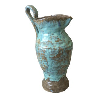 Handmade Glazed Clay Vase