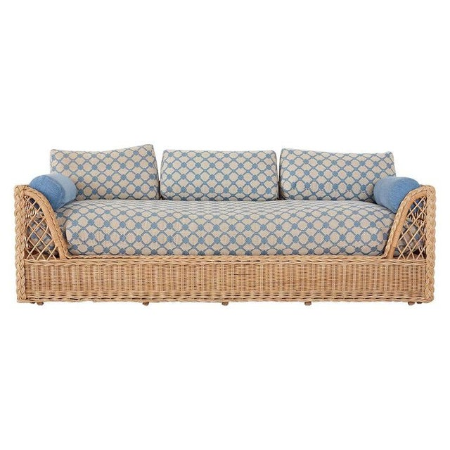 McGuire Organic Modern Rattan and Wicker Daybed Sofa For Sale - Image 13 of 13