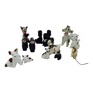 Mid-Century Ceramic Dog Collection - Set of 14