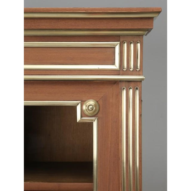 Gold Antique French Louis XVI Mahogany Bookcase For Sale - Image 8 of 12
