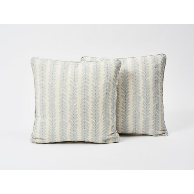 Schumacher Schumacher Double-Sided Pillow in Woodperry Linen Print For Sale - Image 4 of 7