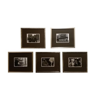1960s Original Black and White Photos of Midtown Manhattan - Set of 5 For Sale