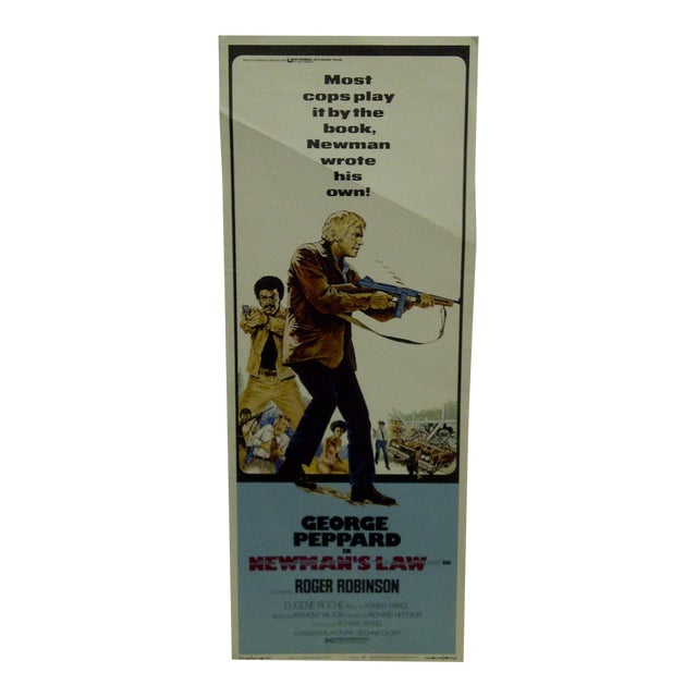 """""""Newman's Law"""" Vintage Movie Poster 1974 For Sale"""